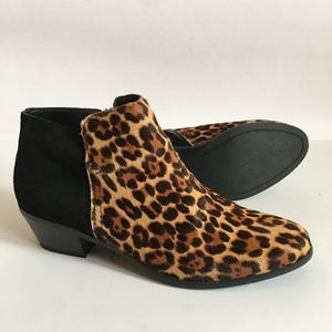G.H. BASS & CO. Nina Leopard Leather Booties